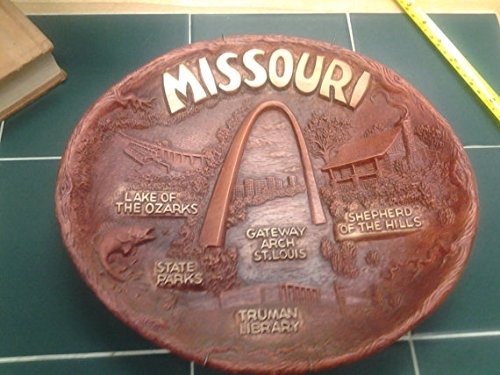 - Retro MISSOURI Wall Hanging by TACO, Syroco Burwood Homco Style Dish / Wall Hanging, Retro St Louis Kitsch