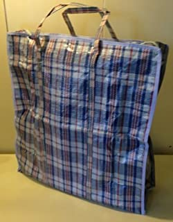 Set of 3 Jumbo STORAGE LAUNDRY SHOPPING Bags with Zippers and Handles. Size 27  & Amazon.com - Large Tote Storage Bag Reusable Shopping Groceries ...
