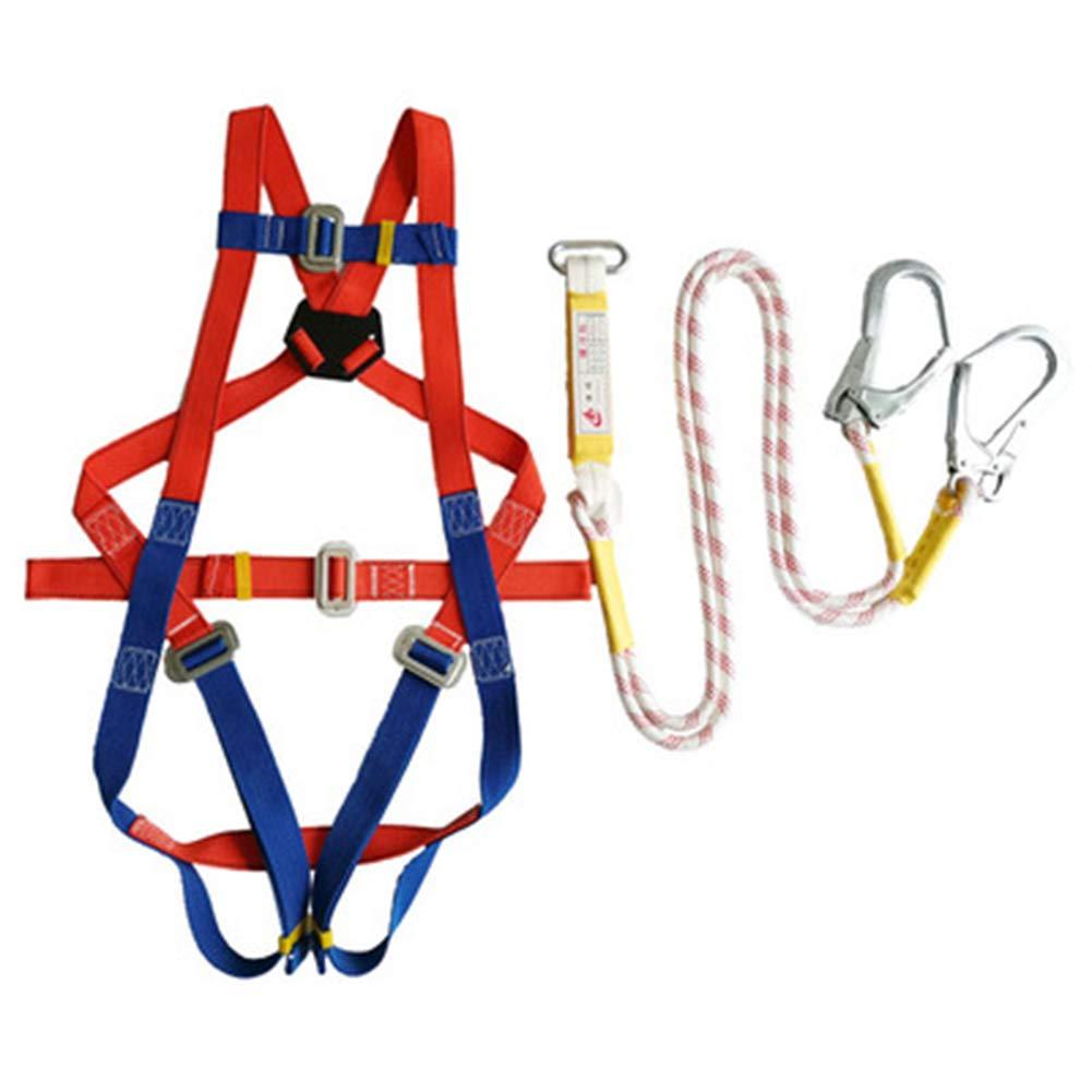 Imbracatura Anticaduta di Sicurezza 2 Tipi Regolabile Full Body Rock Climbing Cintura(Lunghezza Totale Fune 2m Soccorso in Alta Quota WZRIOP Imbracatura Anticaduta 3m)per La Pulizia Esterna