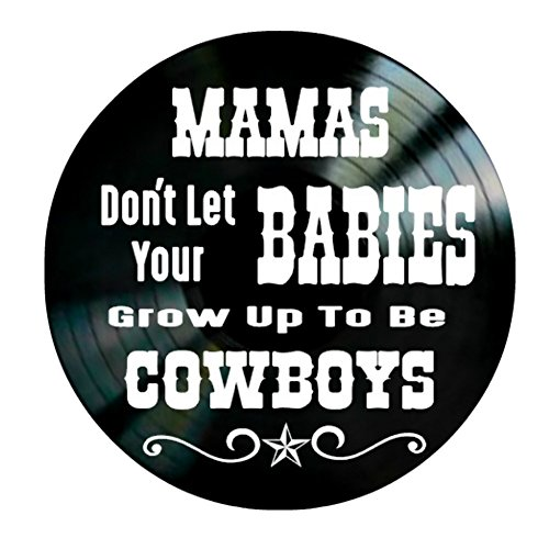Mamas Don't Let Your Babies song lyrics by Willie and Waylon on a Vinyl Record Album Wall artwork by VinylRevamped