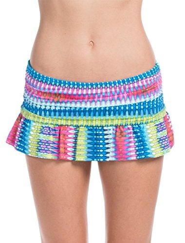 La Blanca Swimwear Rainbow Skirted Hipster Bottom-Rainbow-12