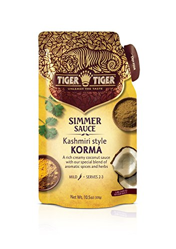 (Tiger Tiger Simmer Sauce Pouch, Korma, 10.5-Ounce)