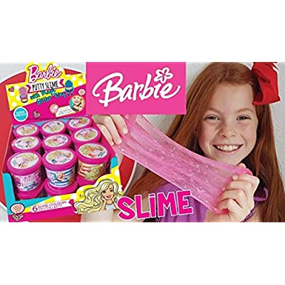 Barbie Putty Slime with Magic Glitter Ring - Pack of Three Putty Slime Containers: Toys & Games