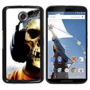 - SKELETON MAN SKULL ART MUSIC HEADPHONES - - Monedero pared Design Premium cuero del tir???¡¯???€????€?????n magn???¡¯