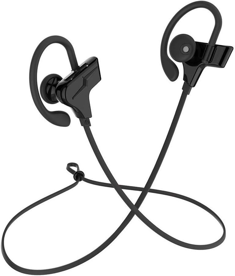 ERKEJI Bluetooth Auricular Auriculares inalámbricos Bluetooth 4.1 HD Auriculares estéreo CVC 6.0 Ruido cancelación Auriculares Sport I N Auricular S 10-Horas Tiempo de Juego