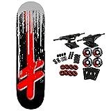 Deathwish Skateboard Complete Original G Drip Silver 8.5'