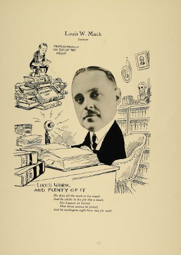 1923 Print Louis W. Mack Chicago Lawyer Banking Law - Original Print from PeriodPaper LLC-Collectible Original Print Archive