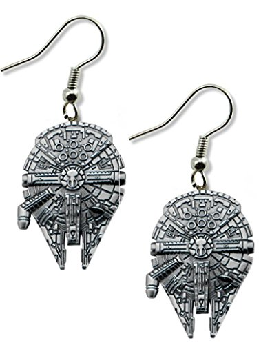 Millennium Falcon Dangle Earrings w/Gift (Doctor Who Inspired Halloween Costumes)
