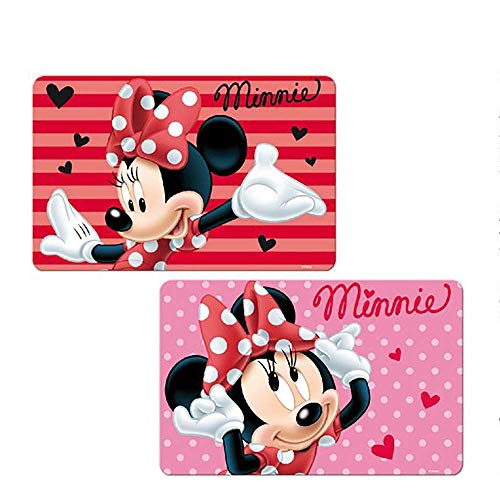 Disney Minnie Girls 3D TableMat Placemat Washable Reusable (Set of 2)