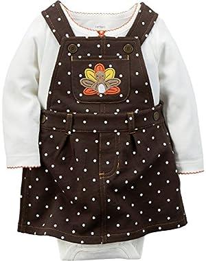 Carters Baby Girls Thanksgiving 2-piece Jumper Set Brown 18 Months