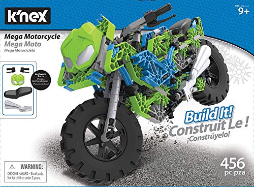"K'nex Mega Motorcycle Building Set - Ages 9+ - 456 Parts - Working Suspension, Authentic Replica Model, Advanced Stem Building Toy for Boys & Girls - 14.5"" L X 6"" H from K'nex"