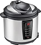 Insignia - 6-Quart Pressure Cooker - Stainless steel/black