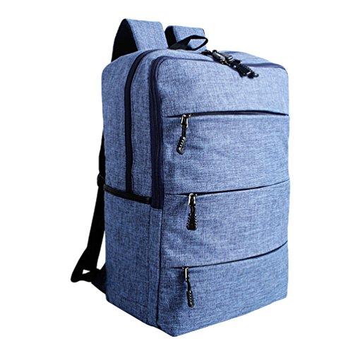 ZKOO Mochilas Escolares Lona Escolar Mochilas Daypacks Gran Capacidad Bookbag Mochila de Viaje Laptop Backpack Zafiro