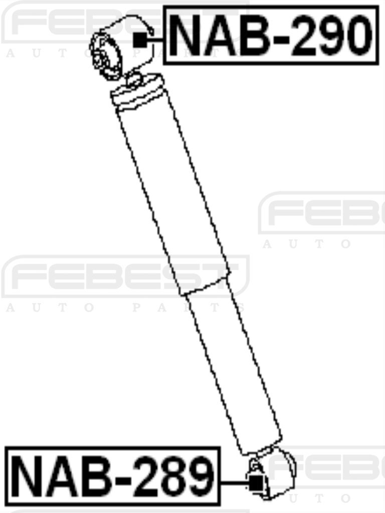 FEBEST NAB-289 Rear Shock Absorber Arm Bushing