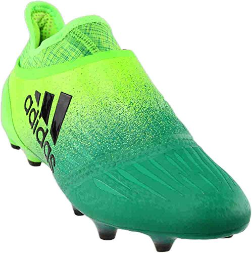 adidas X 16+ Purechaos FG Cleat Men's Soccer 9.5 Solar Green-Black-Core Green (Green Adidas Cleats Soccer)