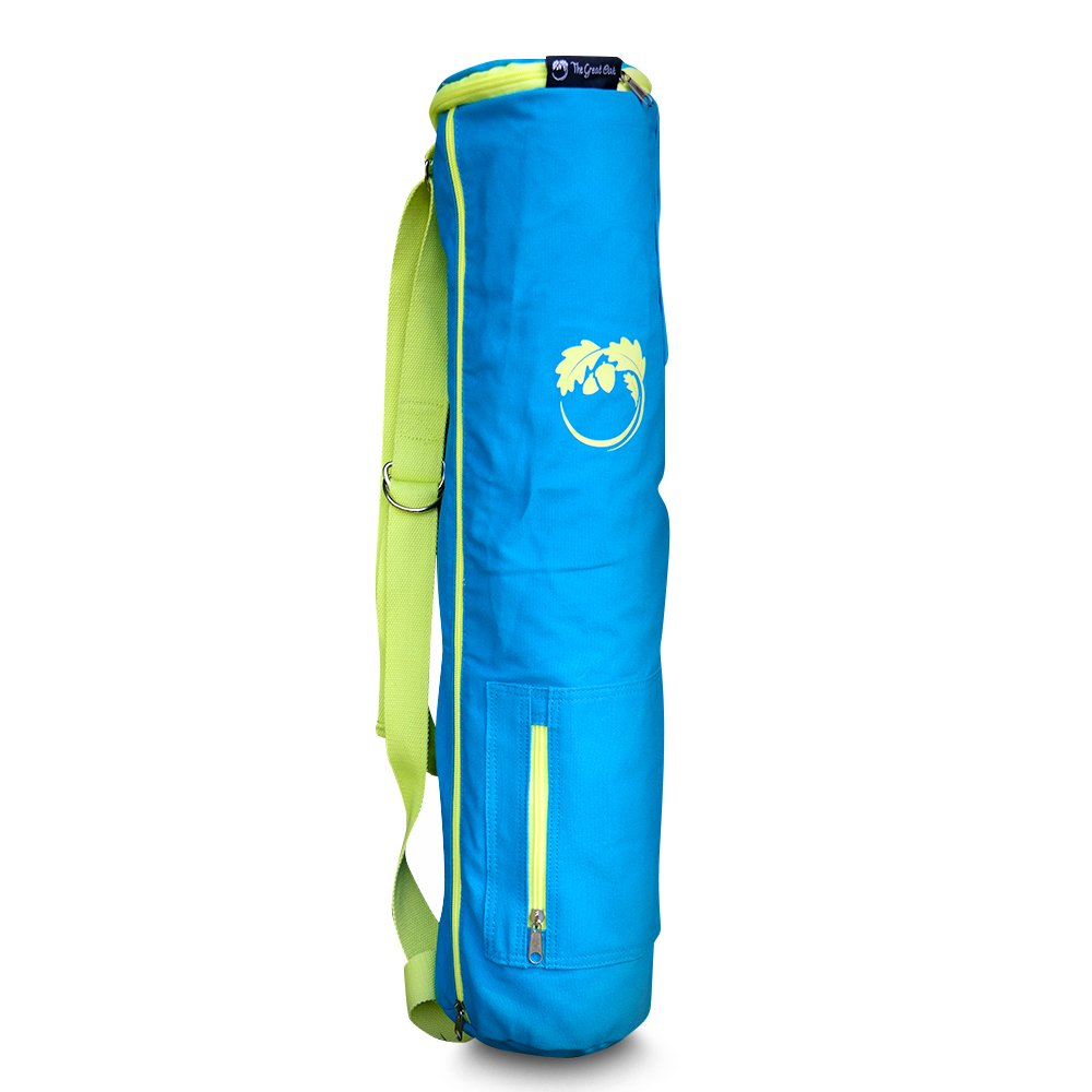The Great Oak Yoga Mat Bag - Detachable Yoga Strap - Extendable - Comes with 3 Pockets for Bottles, Phone, Keys and More