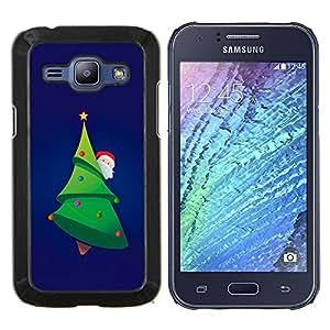 LECELL--Funda protectora / Cubierta / Piel For Samsung Galaxy J1 J100 -- Merry Chistmas árbol de Papá Noel --