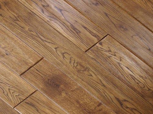 Handscraped Wood Flooring - 5 inch Greenland Multilayer Distressed Hand-Scraped Hardwood Oak Honey Flooring (6 inch Sample)