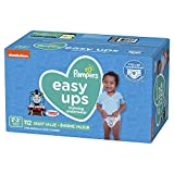 Pampers Easy Ups Diapers Size 4 (2T-3T), Pull On Disposable Training Pants for Boys, Gaint Pack, 112 Count