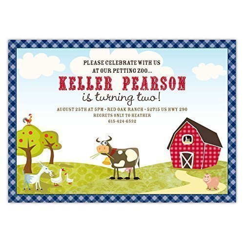 Amazon Customized Whimsical Farm Party Petting Zoo Birthday
