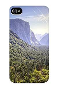 Freshmilk EiK313WCapl Case For Iphone 4/4s With Nice Yosemite National Park Waterfall Forest Mountains Appearance
