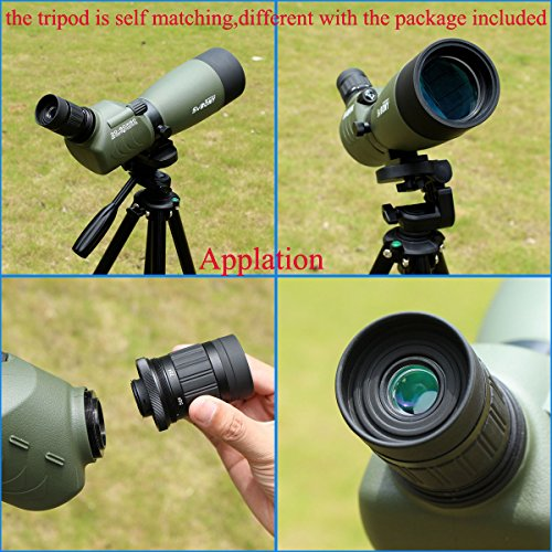 51urhpeK42L - SVBONY 20-60x60/25-75x70mm Shooting Spotting Scope Bak4 Prism Spotting Scope Telescope IP65 Waterproof FMC Optical Lens with Tripod and Phone Adapter