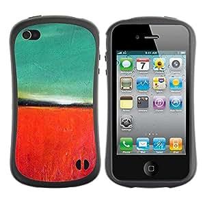 "Hypernova Slim Fit Dual Barniz Protector Caso Case Funda Para Apple iPhone 4 / iPhone 4S [Pintura roja del trullo Naturaleza Otoño""]"