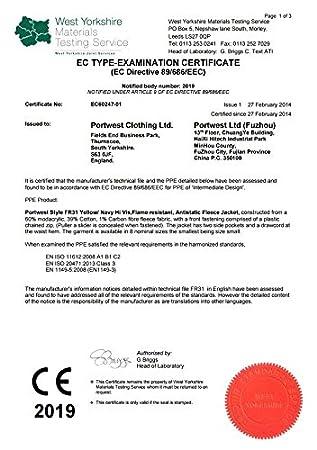 Flammhemmendes 1 St/ück S antistatisches WarnschutzFleece PORTWEST FR31 gelb//marine FR31YERS