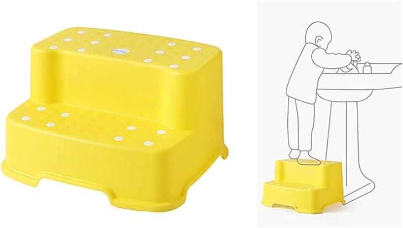 ZZKJNIU Taburete para NiñOs: Escalera Auxiliar para El Inodoro para NiñOs, Mesa De BañO Antideslizante Y Lavamanos × 2,Yellow: Amazon.es: Hogar