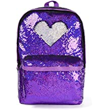 """Magic Reversible Sequin School Backpack,Sparkly Lightweight Back Pack for Girls and Boys, 17""""(H)12¼""""(L)4¾""""(W)"""
