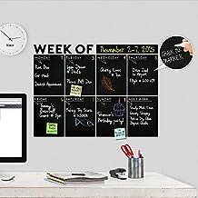 "Modern 2017 Chalkboard Weekly "" Week Of "" Wall Decal Calendar - A Todeco Product"