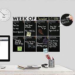 Modern 2017 Chalkboard Weekly \