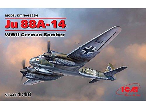 ICM Modelos ju 88 A-14 Segunda Guerra Mundial alemán Bomber ...