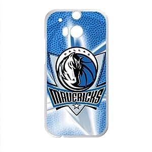 Dallas Mavericks NBA White Phone Case for HTC One M8