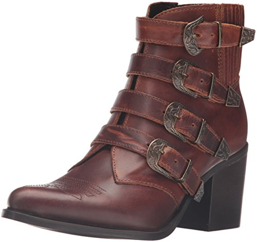 Steve Madden Women's Praire Boot, Cognac Leather, 6 M US