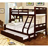 247SHOPATHOME Idf-BK459EX-F-TR Bunk-Beds, Full, Walnut