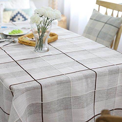 Dark Coffee 130230cm HMtapete Moderne Coton et Lin Table à Manger Nappe Simple Plaid Table Basse Couverture Maison voitureré Table Décoration Tissu (Couleur   Dark coffee, taille   130  230cm)