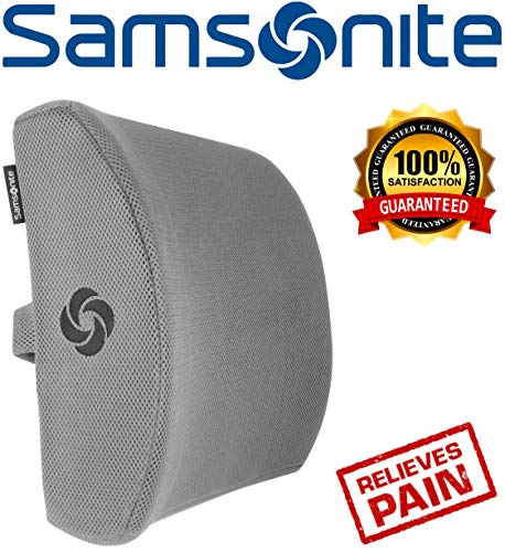 Samsonite SA5244 - Ergonomic Lumbar Support Pillow - Helps Relieve Lower Back Pain - 100% Pure Memory Foam - Improves Posture - Fits Most Seats - Breathable Mesh - Washable Cover - Adjustable Strap by Samsonite (Image #8)