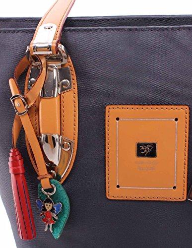 Borsa Mano Donna PIERO GUIDI 1134F3470 Col 15 Tessuto Tecnico Blu Made In Italy
