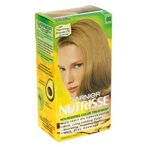 Nutrisse Crème Nourrissante couleur NO. 80 moyenne blonde naturelle par Garnier - 1 Application Couleur des cheveux