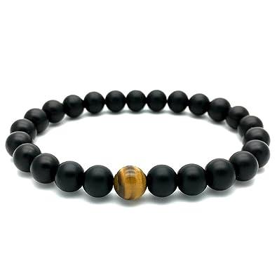 dilusso negro mate perlas de ágata Mala Yoga energía ...