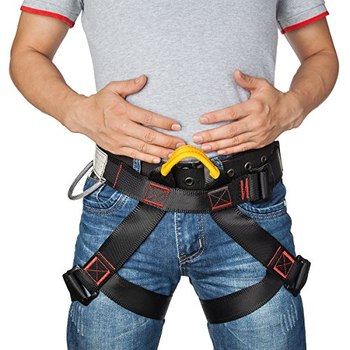 Climbing Harness, Starpeak Safe Seat Belts For Mountaineering Outward Band Fire Rescue Expanding Training, Working on the Higher Level Caving Rock Climbing Rappelling Equip (Rappelling Harness Quick)