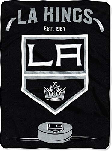 Los Angeles Kings 60''x80'' Royal Plush Raschel Throw Blanket - Stamp Design ()