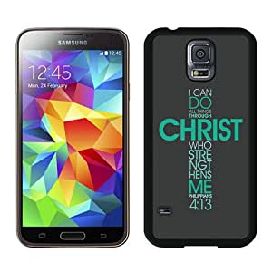 Unique Samsung Galaxy S5 I9600 Case ,Popular And Durable Designed With Bible Philippians Jesus Christ Christian Cross Cases Cover Green at abcabcbig store Black Samsung Galaxy S5 I9600 Cover