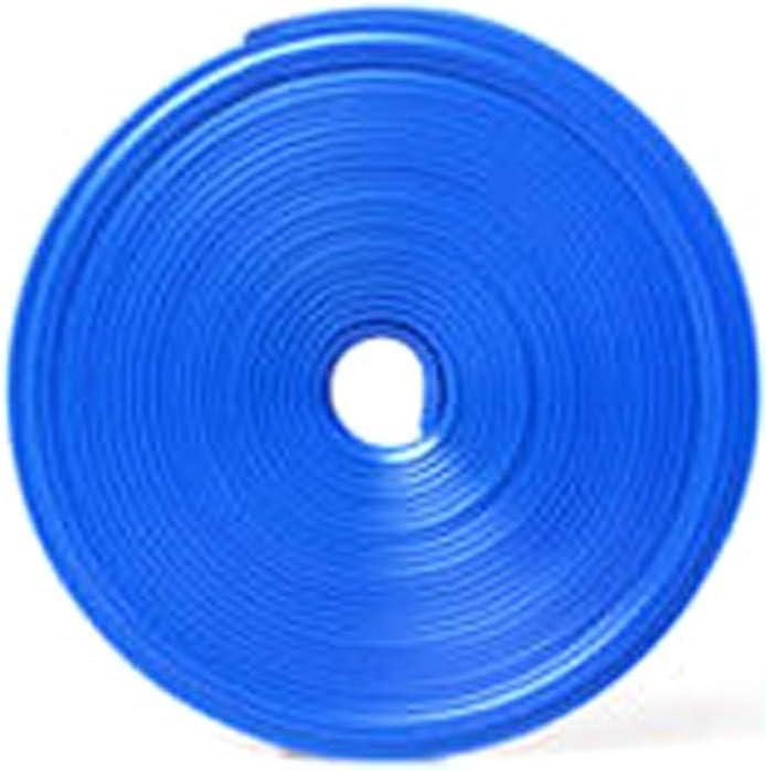 Protector de borde de la llanta del coche para el eje de la rueda del coche, protector de borde de la llanta, juego de pegatinas de goma para la línea de protección de los neumáticos Tamaño libre azul