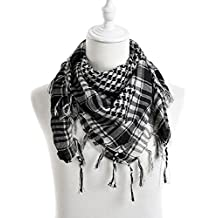 Arab Shemagh Tactical Palestine Light Polyester Scarf Shawl For Men Fashion Plaid Printed