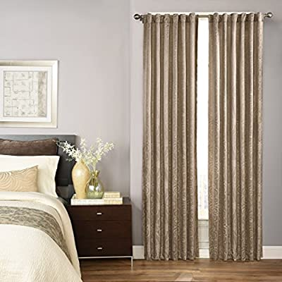 "BEAUTYREST Blackout Curtains for Bedroom-Avignon 52"" x 84"" Insulated Darkening Single Panel Rod Pocket Window Treatment Living Room, Mink - Sold as a single, lined curtain Tab top and rod pocket styling options Recommended with up to a 1.5 rod for maximum styling - living-room-soft-furnishings, living-room, draperies-curtains-shades - 51urlNKXlQL. SS400  -"