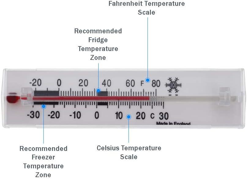 Termómetro para frigorífico o congelador, fácil de leer, medidor ...