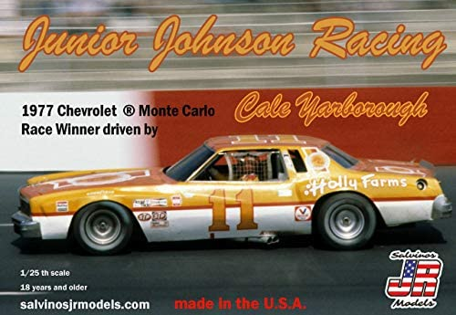 サルビノス J・R モデル 1/25 NASCAR 1977 シボレー モンテカルロ ケイル・ヤーボロー ジュニア・ジョンソンレ