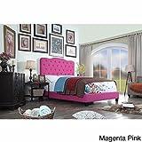Millbury Home Elian Linen Upholstery Platform Bed, Pink, Queen
